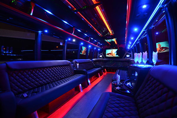 40 passenger party bus Tulsa interior