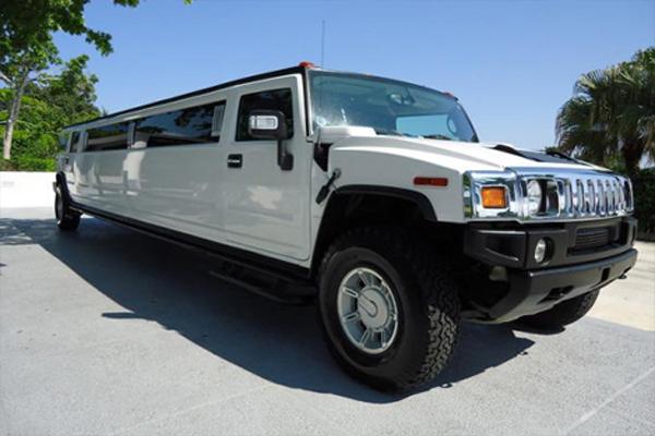 White Hummer Limo Tulsa